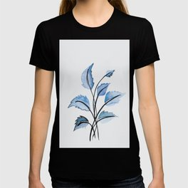 Blue leaves T-shirt