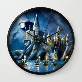 Moonlit Magic Wall Clock