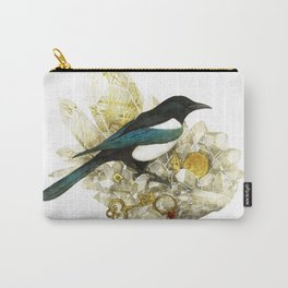 Magpie and Rutilated Quartz Carry-All Pouch