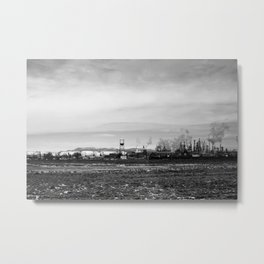 Small Industrial Town Metal Print