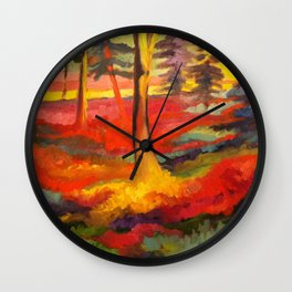 Vibrant Forest Wall Clock