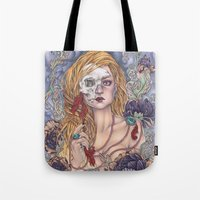 gemma Tote Bags featuring Lady by Gemma Pallat by ToraSumi