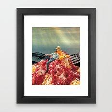 SPAGHETTI Framed Art Print