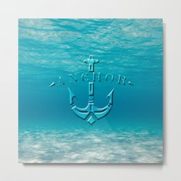 Anchor in the sea Metal Print