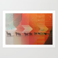 Feed The Right Dogs Art Print