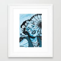 fitzgerald Framed Art Prints featuring Coachella Fitzgerald by EZCO
