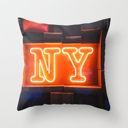 Neon NY Throw Pillow