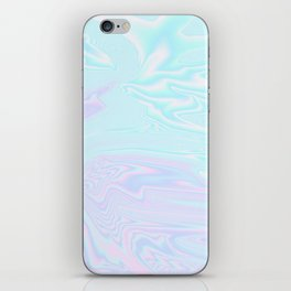 Blue Purple Holographic iPhone Skin