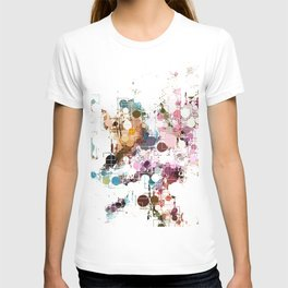 Decorative Subdued Pastel Pattern Abstract T-shirt