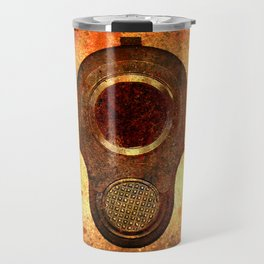 M1911 Colt Pistol Muzzle On Rusted Background Travel Mug