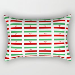 flag of iran 2- Persia, Iranian,persian, Tehran,Mashhad,Zoroaster. Rectangular Pillow
