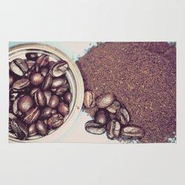 Coffee Beans and Coffee Ground Rug