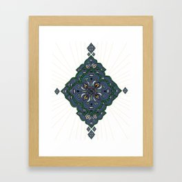 Lively Earth Mandala - v.2 Framed Art Print
