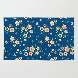 """Cute Floral pattern of small light flowers. """"Ditsy print"""". Rug"""