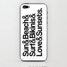 Sun, surf, bikinis iPhone & iPod Skin