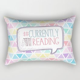 #Currently Reading Pastel Triangle  Rectangular Pillow