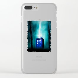 TARDIS BLUE EXPLODES Clear iPhone Case