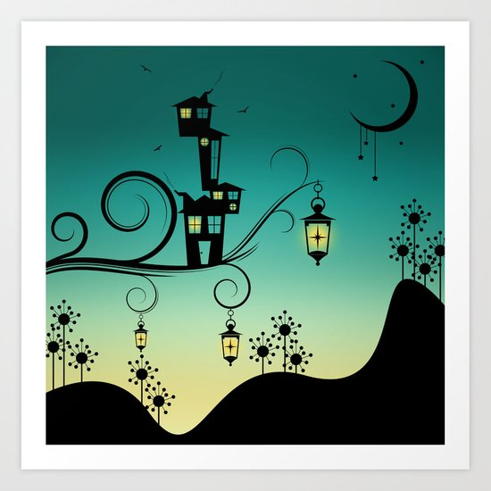 Good Night Little One. Art Print