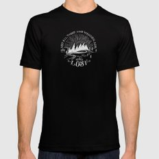 wander LARGE Black Mens Fitted Tee