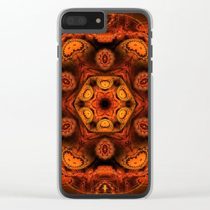 Burning jellyfish kaleidoscope Clear iPhone Case