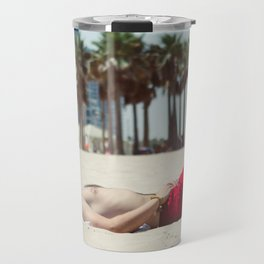 Relaxing on the Beach Travel Mug