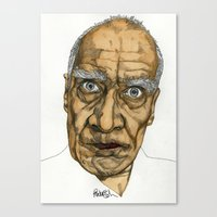 allyson johnson Canvas Prints featuring Wilko Johnson by Paul Nelson-Esch Art
