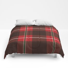 Red, Black and Green Striped Plaid Comforters