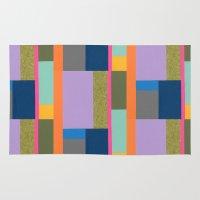 bauhaus Area & Throw Rugs featuring Bauhaus Revisited by Liz Nehdi