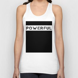 POWERFUL - WHITE Unisex Tank Top