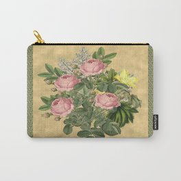 Heirloom Rose Bouquet Carry-All Pouch