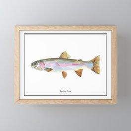 Rainbow Trout - Polygon Fish Series Framed Mini Art Print