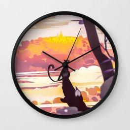 The Black Cat Wall Clock