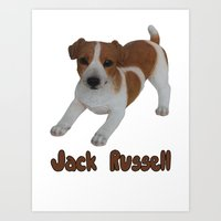 jack russell Art Prints featuring Jack Russell!  by Al's Visions