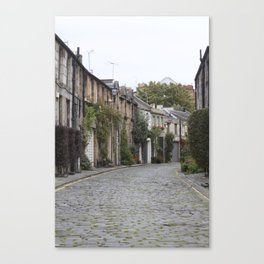 Edinburgh street Canvas Print