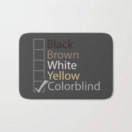 Colorblind Bath Mat