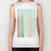 the strokes Biker Tanks featuring Paint Strokes by AngelicaRoesler