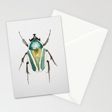 Beetle Watercolor II Stationery Cards