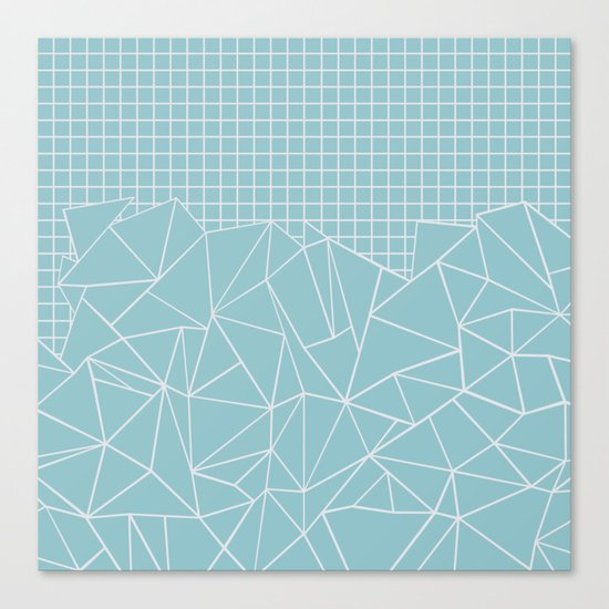 Ab Outline Grid Salty Canvas Print