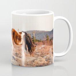 Two Horses Having Dinner Coffee Mug