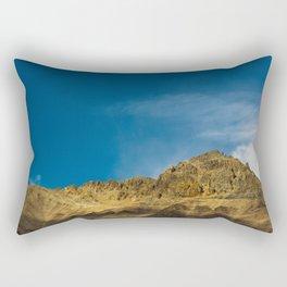 Orange and Blue Rectangular Pillow