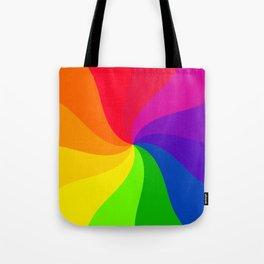 Color wheel pin wheel Tote Bag