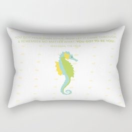 Seahorse with Quote Rectangular Pillow