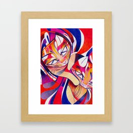 Cat Interplay 1 Framed Art Print