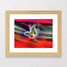Spring Hunter Butterfly Framed Art Print