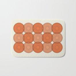 Red & Orange Circles Bath Mat