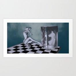 chess lady Art Print