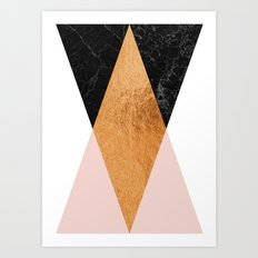 Copper Pink Geo Art Print