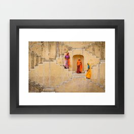 Amber Stepwell, Rajasthan, India Framed Art Print
