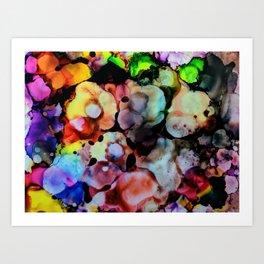 Billowy Flowers Art Print