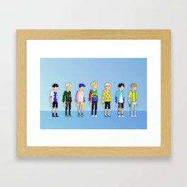 GOT7 8-bit Just Right Framed Art Print